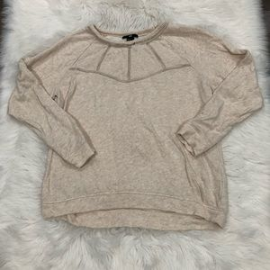 Tops - Tan Perforated Sweat Shirt Blouse Cut Out size M